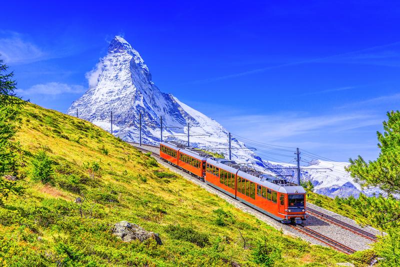マッターホルンとゴルナーグラート鉄道