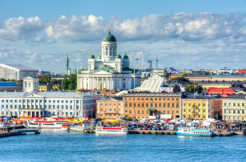フィンランドの首都ヘルシンキの街並み