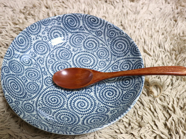 和の器 田窯 皿とスプーン