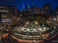 ニューヨーク ユニオンスクエア 夜のホリデーマーケット