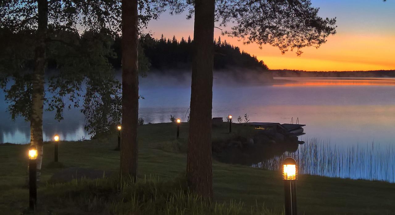 ビルマス湖 サンセット