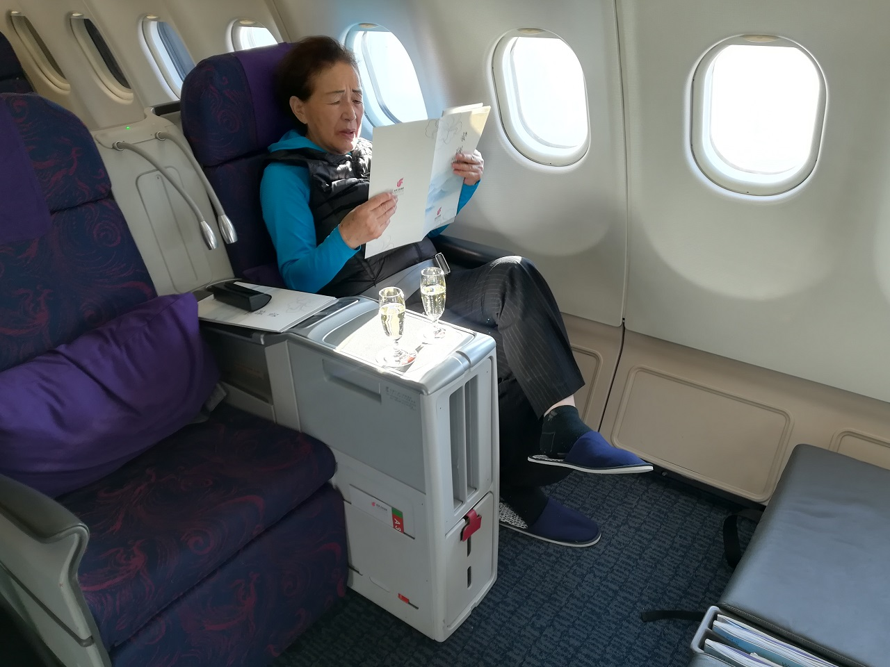 中国国際航空ビジネスクラス座席