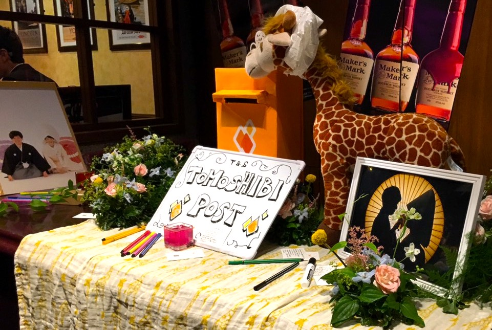 TOMOSHIBI LETTER 結婚式の使用例