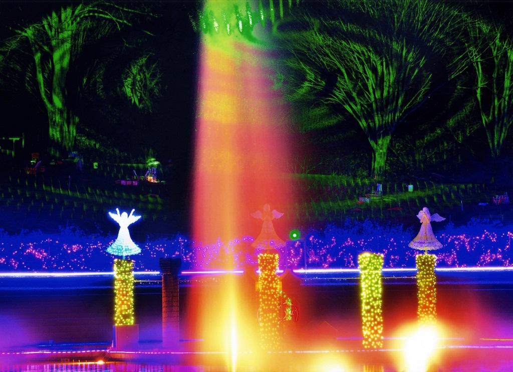 ぐんまフラワーパーク 妖精のレーザーショー