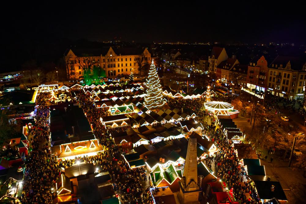 ドイツ エアフルトのクリスマスマーケット