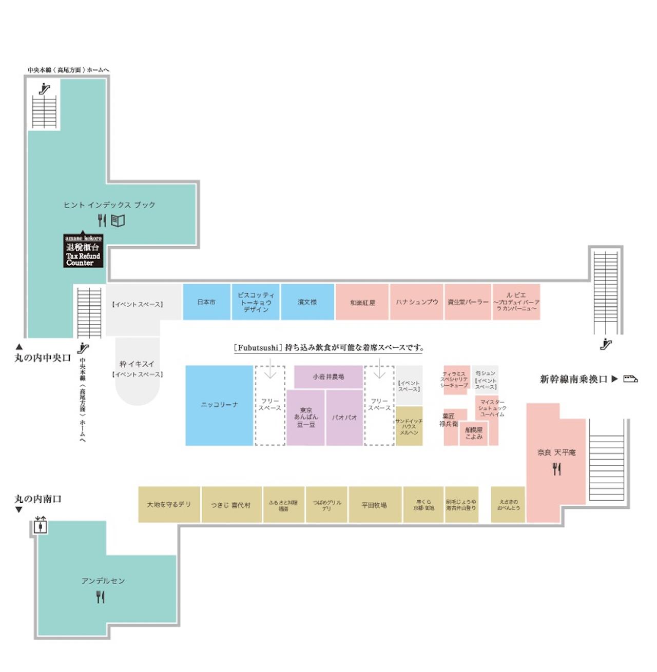 エキュート東京マップ