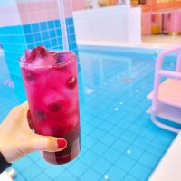pink pool cafe ドリンク プール