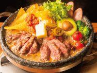 牛ステーキのアボカドサルサチーズ鍋1