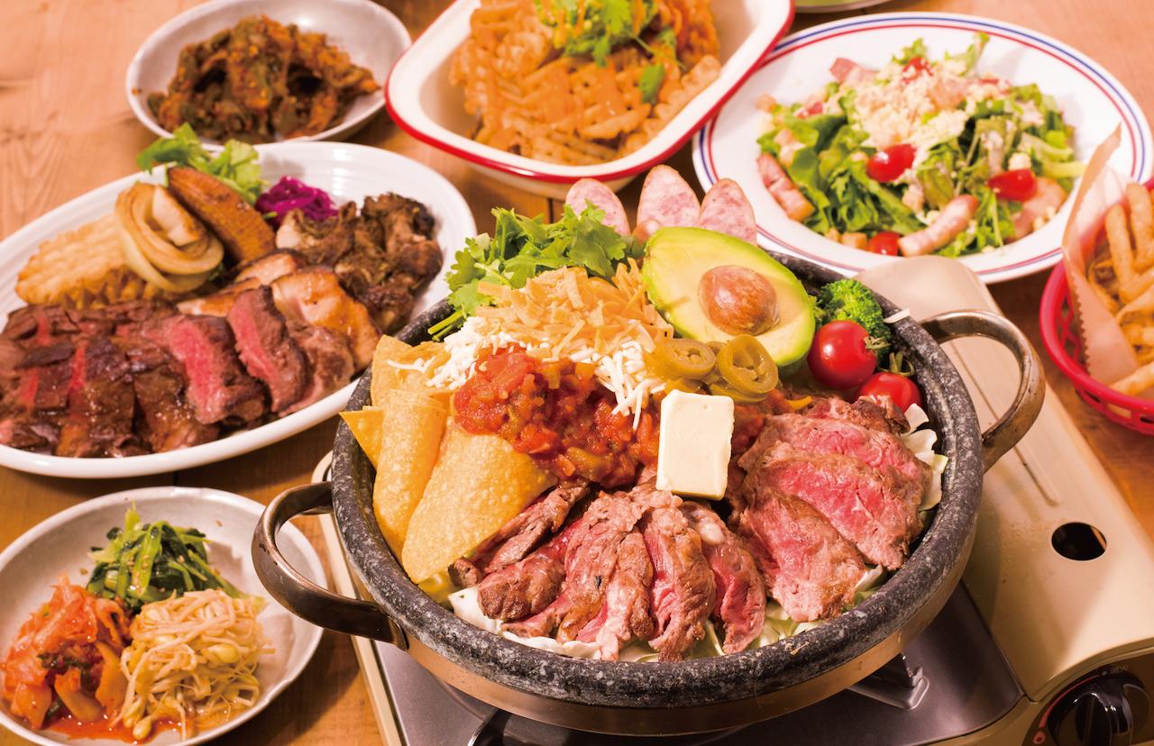牛ステーキのアボカドサルサチーズ鍋2