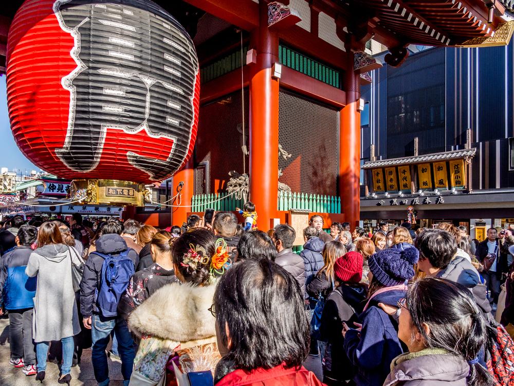 東京浅草寺 初詣