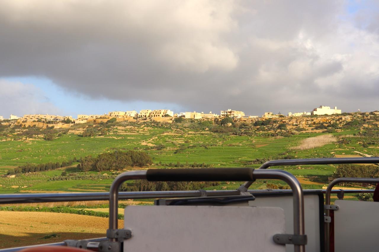 バスから見えるゴゾ島の風景