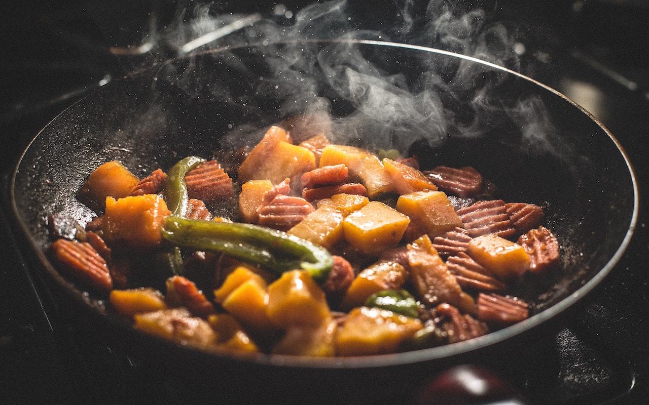 ギーを使った和食の炒め物