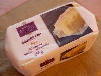 スーパー「モノプリ」で購入した生バター