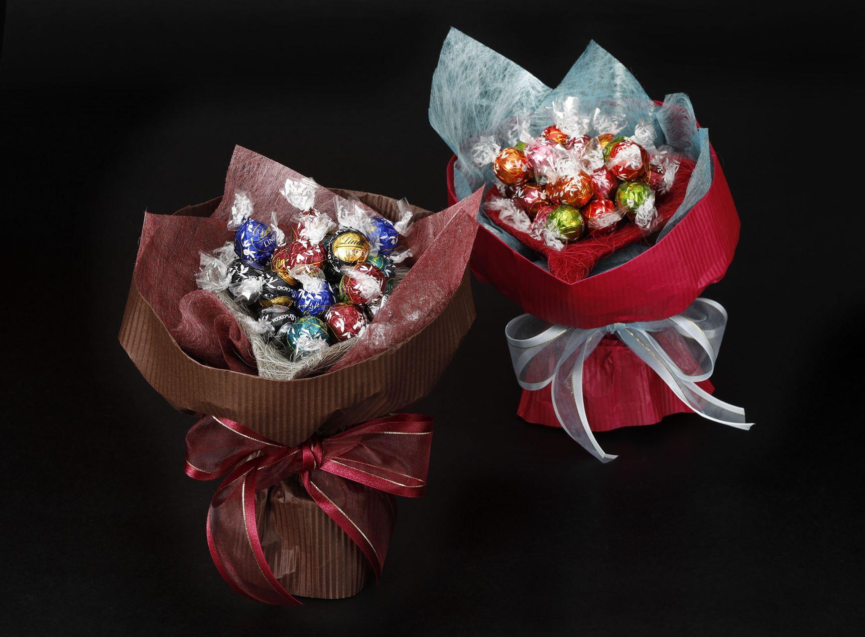 リンドールで作るチョコレートのブーケ