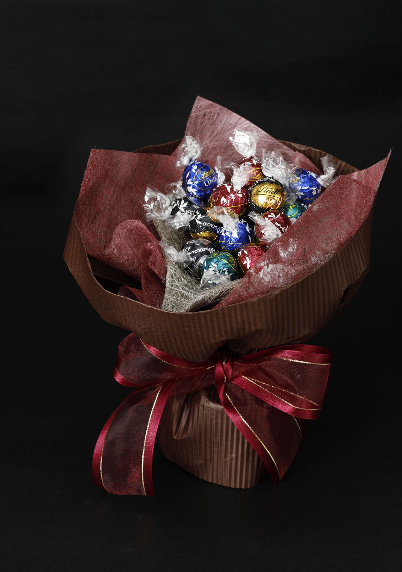 リンドールで作るチョコレートのブーケ(ブラウン)