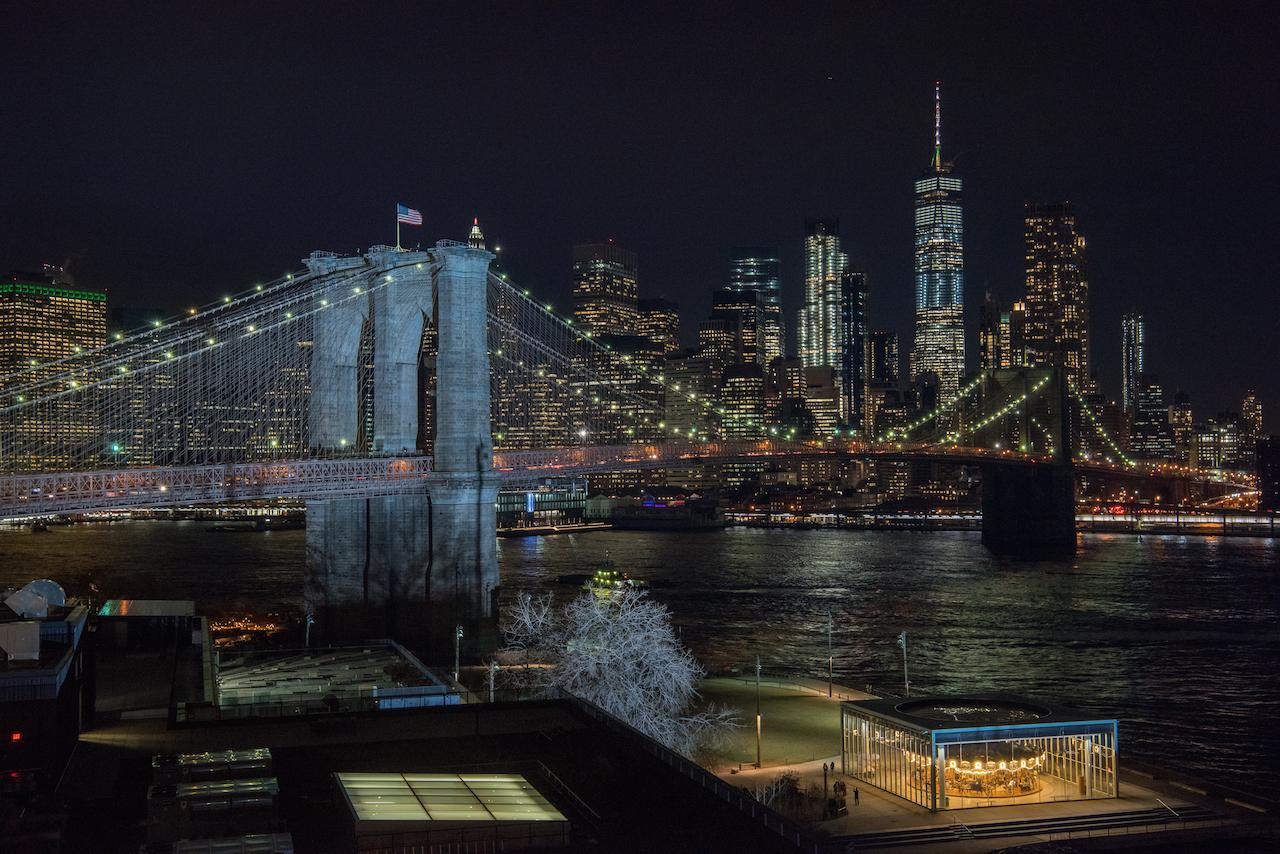 ブルックリンブリッジ夜景