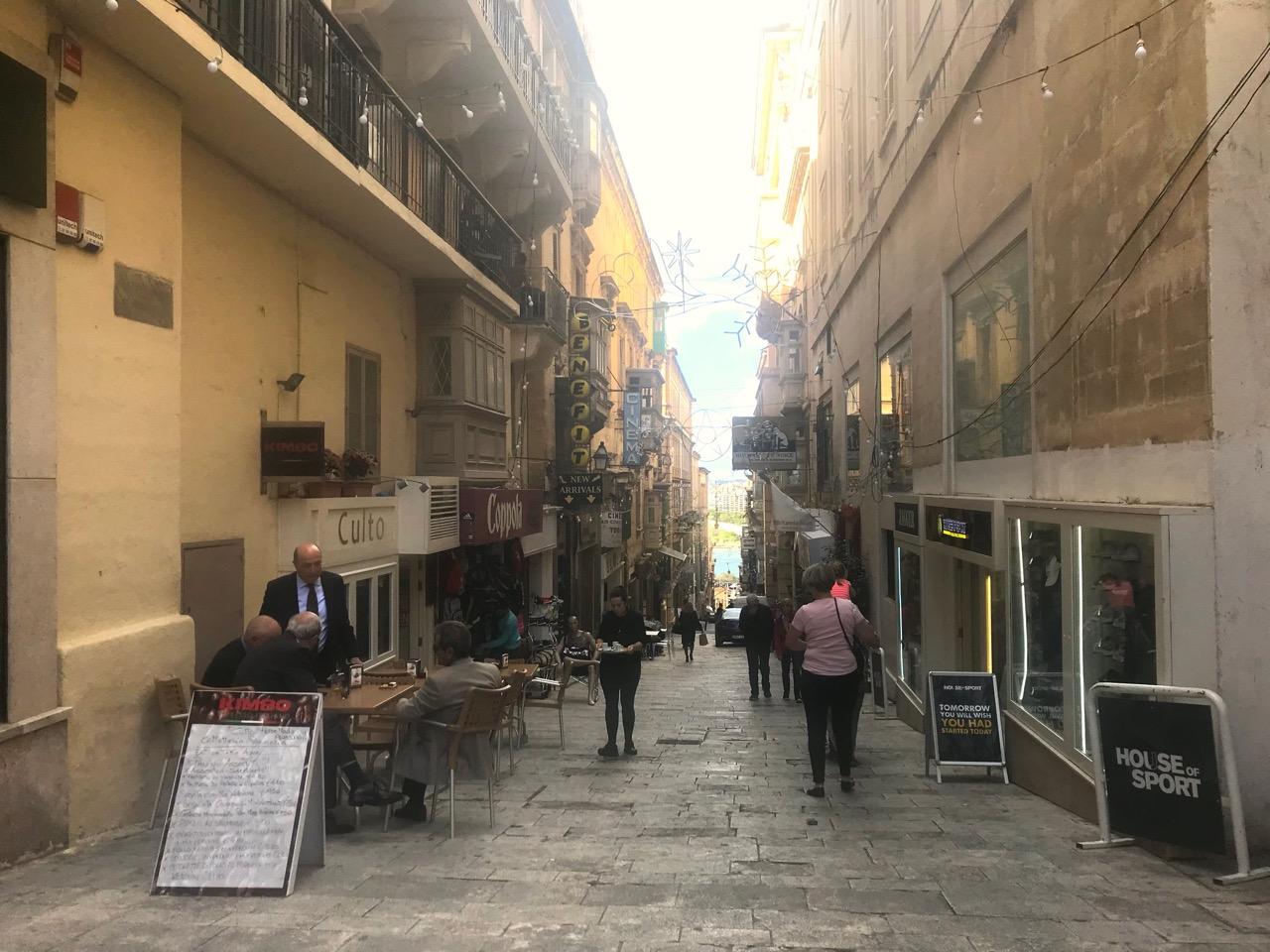 ヴァレッタのレストラン街