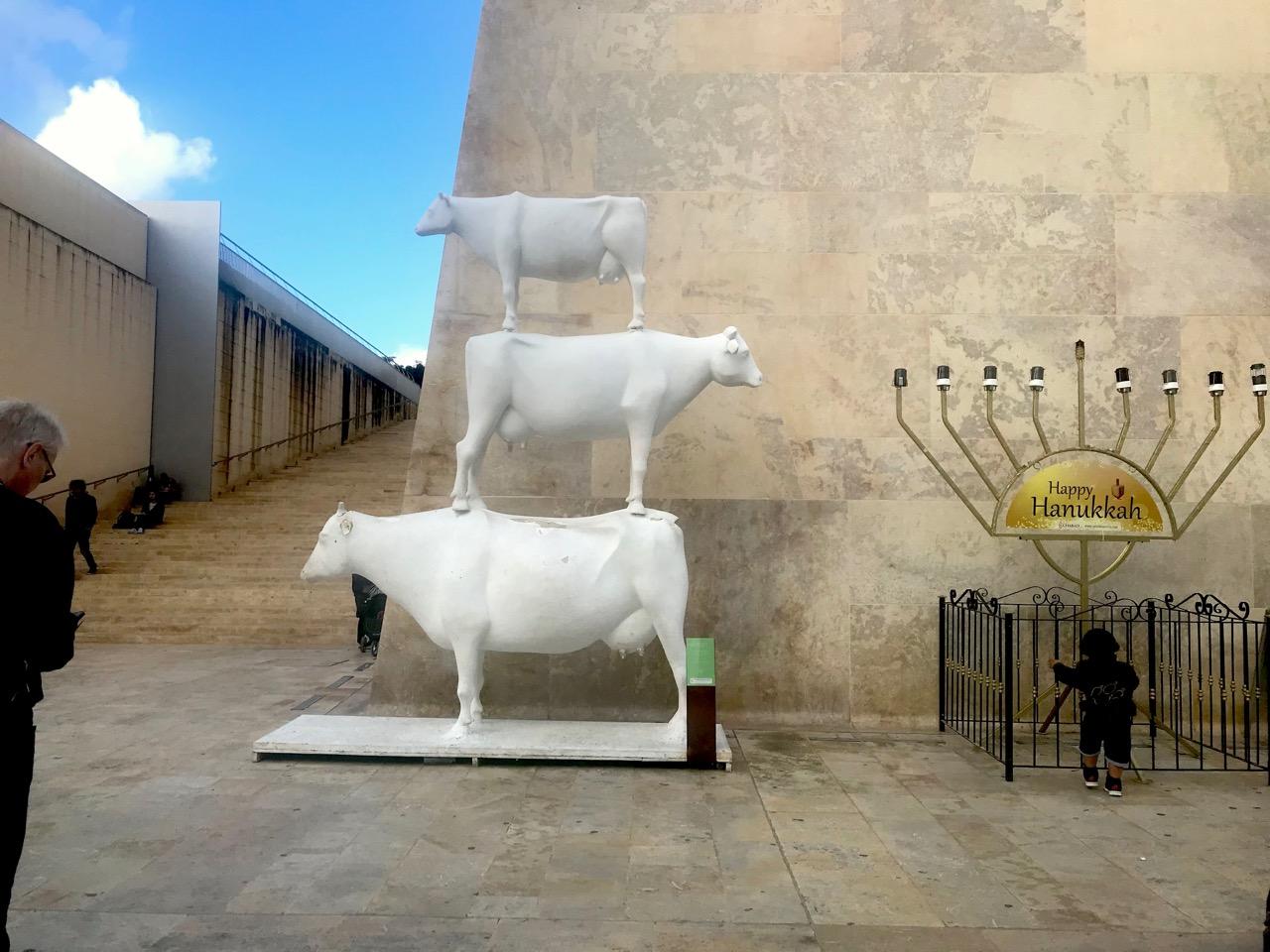 ヴァレッタにある牛のオブジェ
