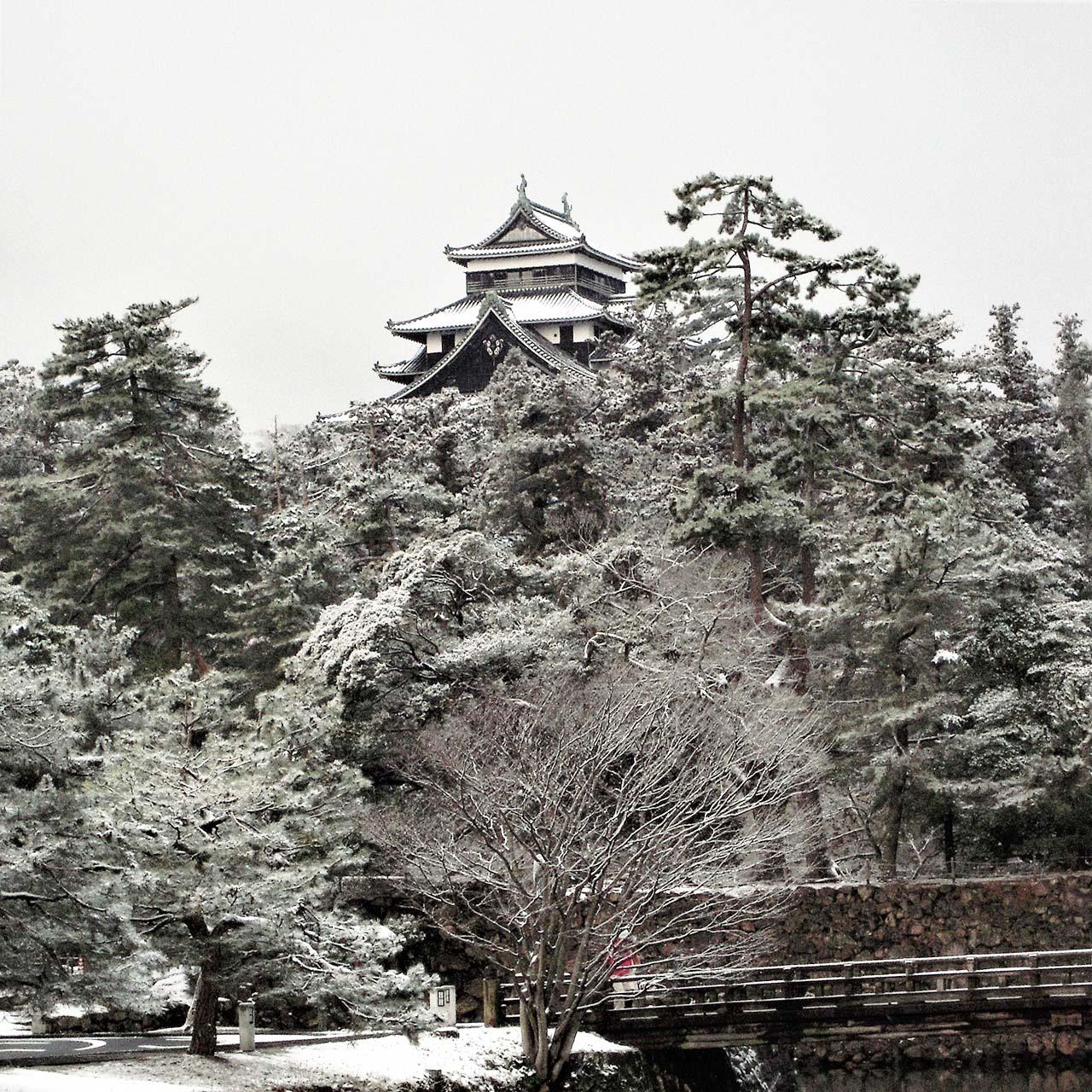 松江城冬の堀川めぐり