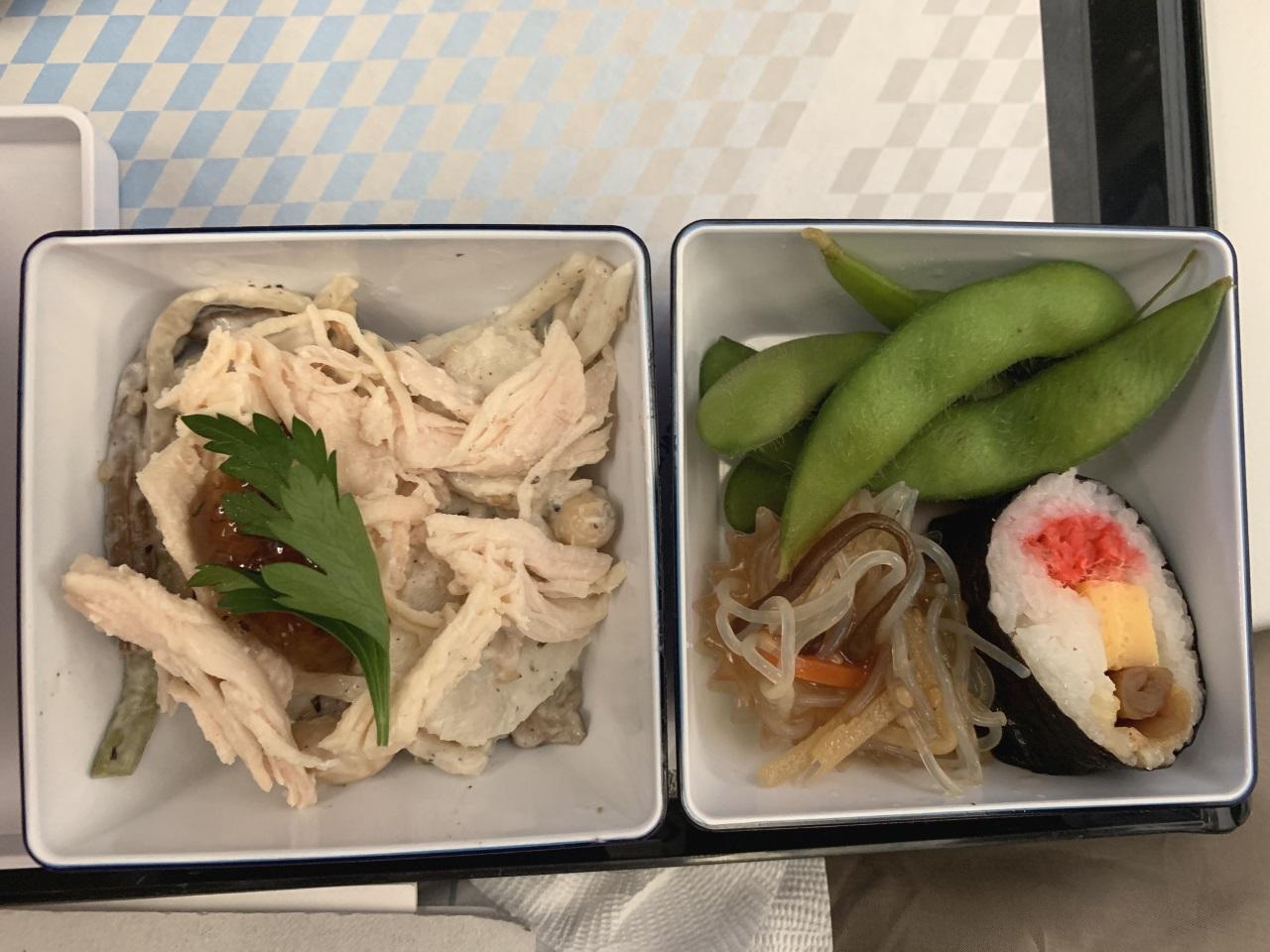 東京羽田~ロンドン「ANA」エコノミークラス機内食