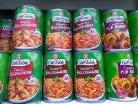 種類豊富なパスタの缶詰