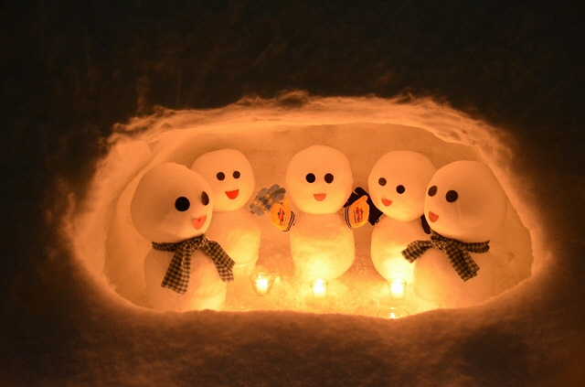 雪だるま祭りライトアップ2