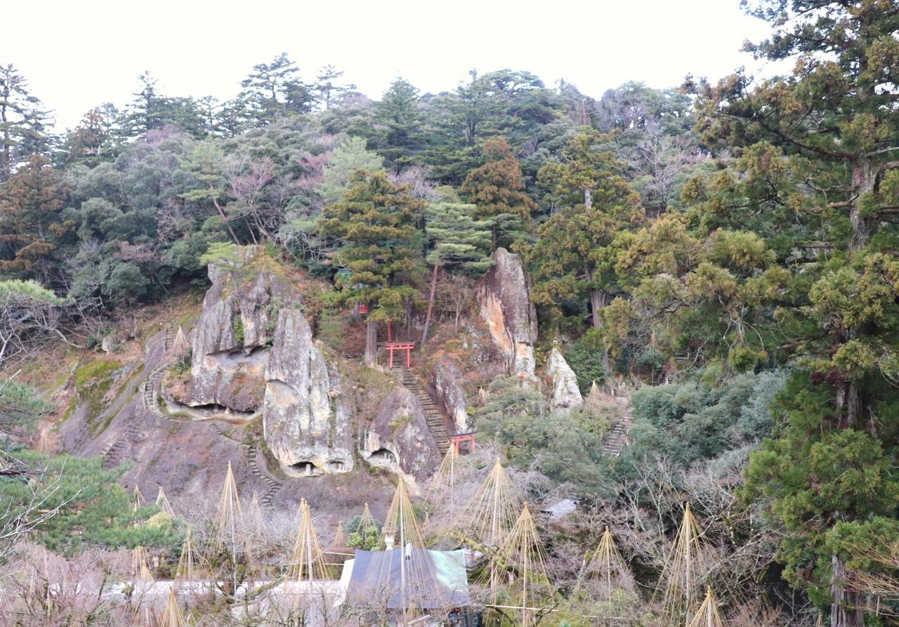 那谷寺の展望台・鎮守堂からの眺め