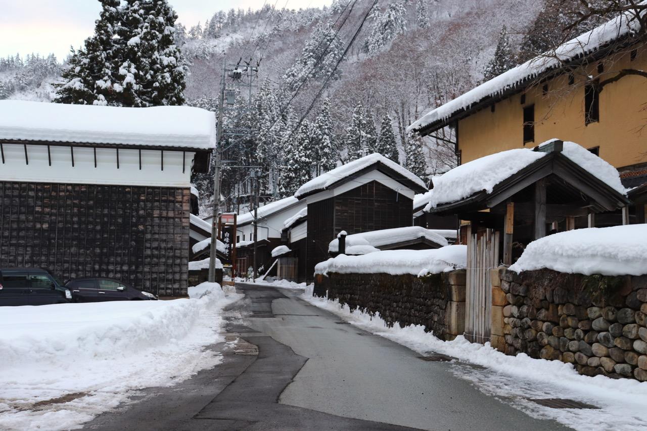 白峰地区の村落