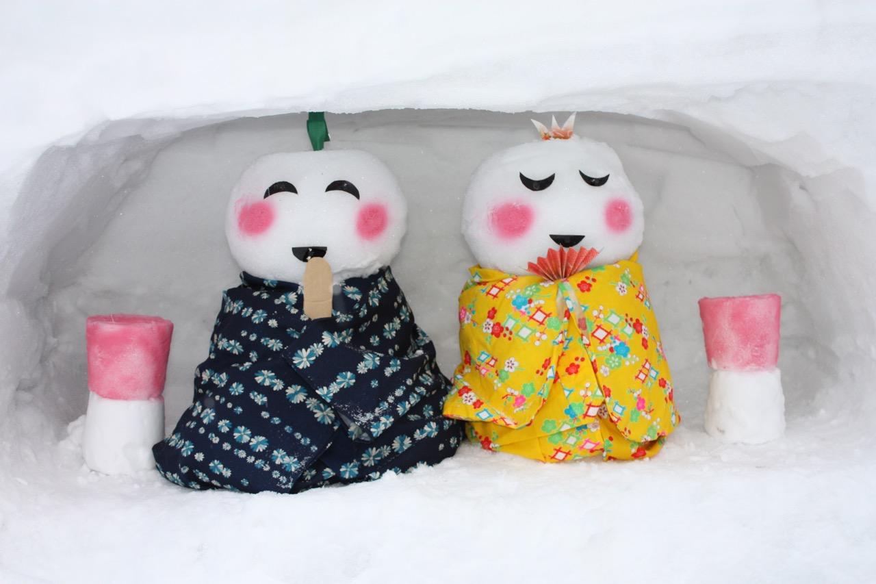 雪だるま祭りの雪だるま