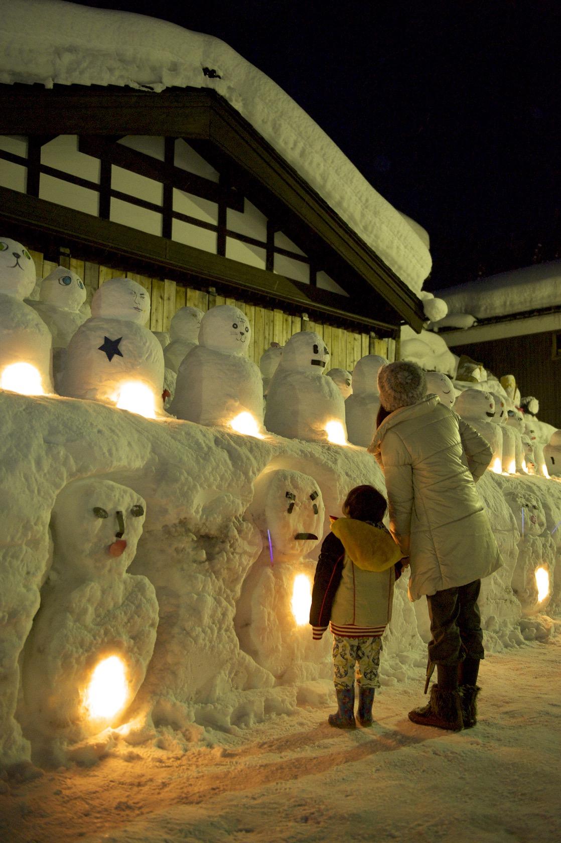 雪だるま祭りライトアップ