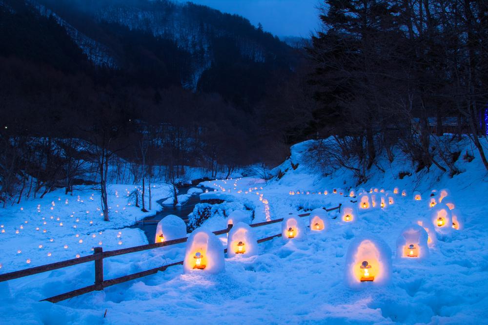 栃木県湯西川温泉 かまくら祭