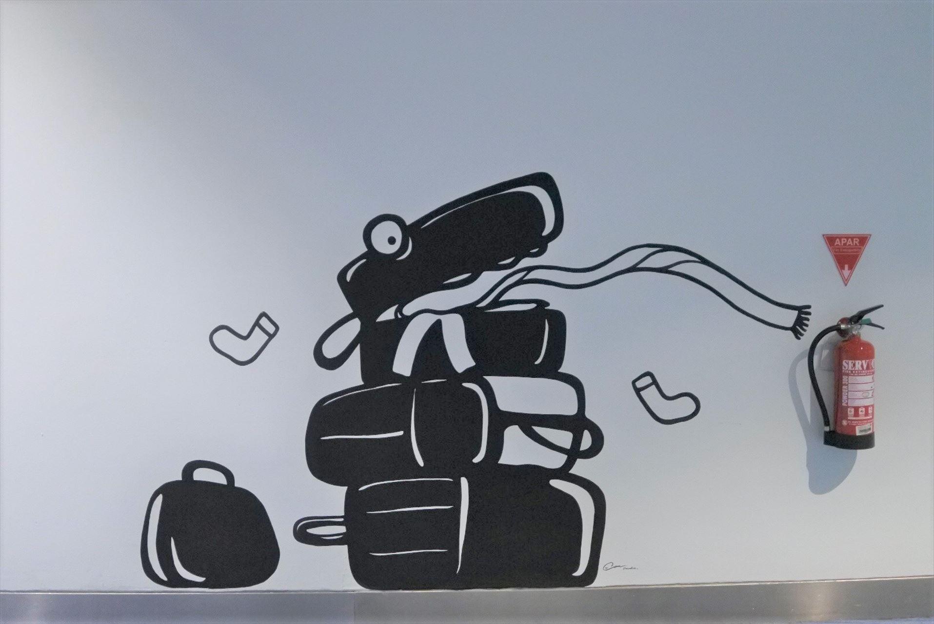 ジャカルタ空港壁画