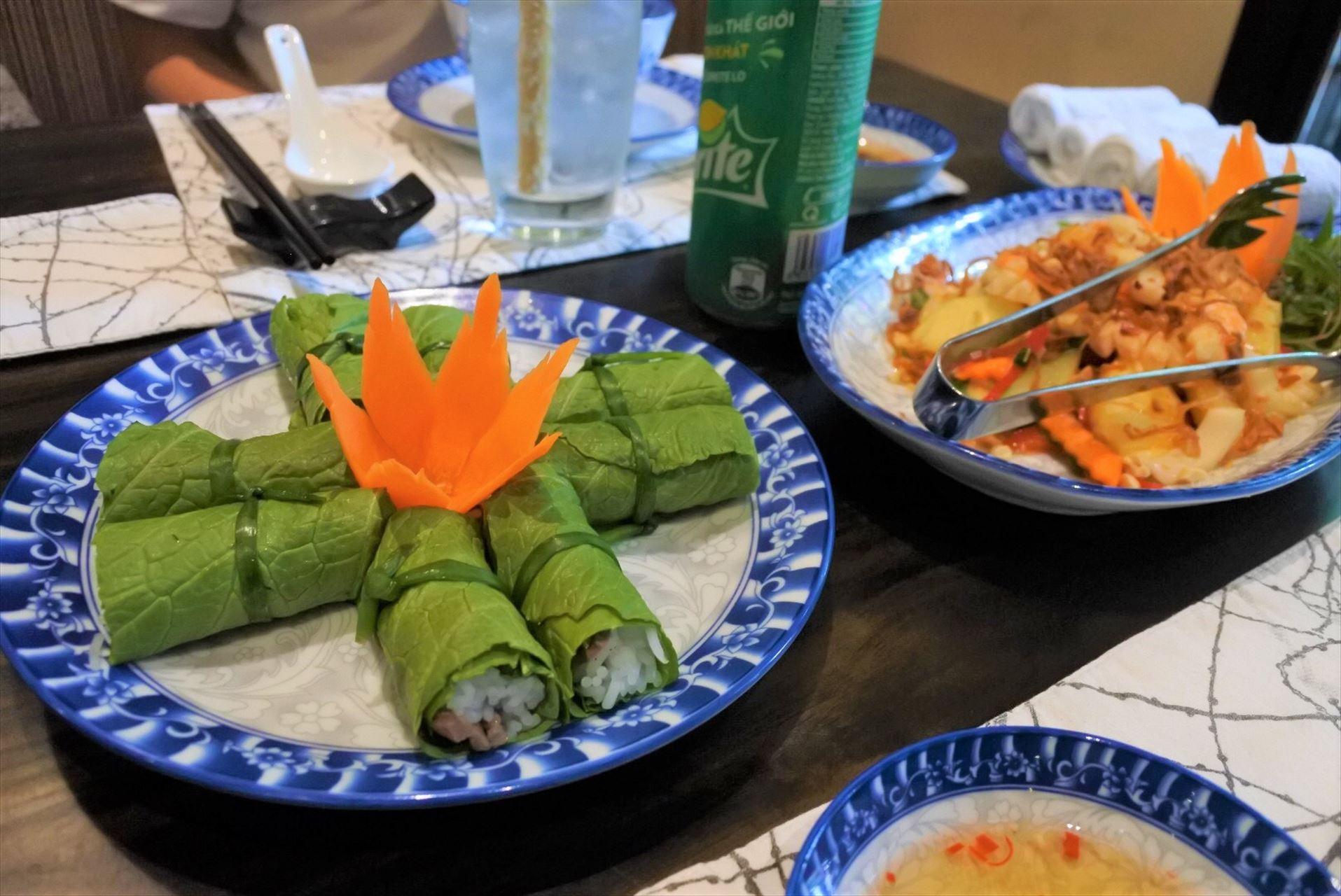 The Chopsticks Saigon からし菜の生春巻き