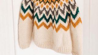 ペルー製ウールの可愛いセーター
