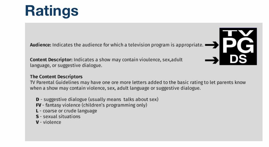 テレビの年齢規制