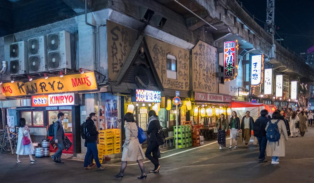 夜の東京:日本食ツアー 有楽町