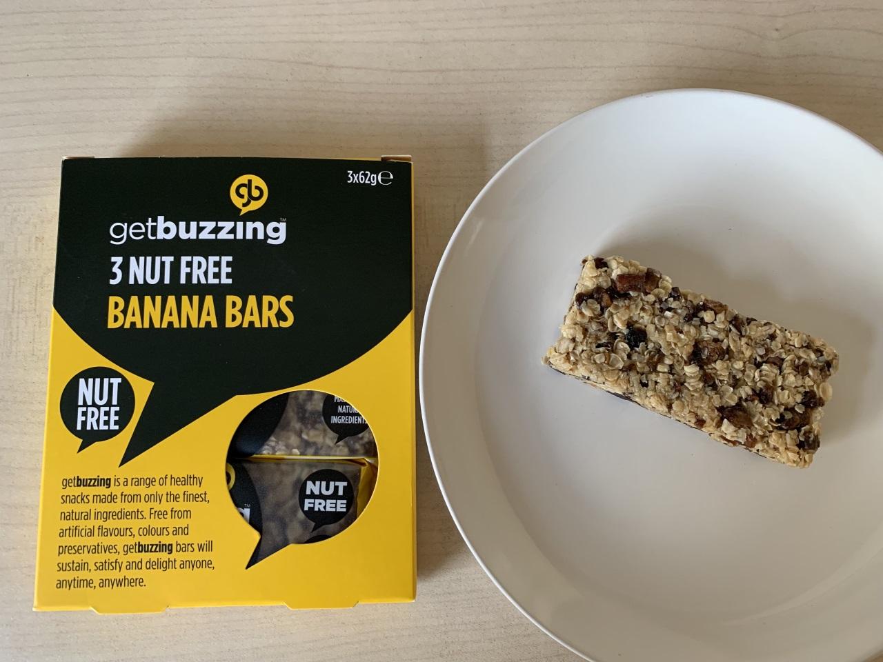 get buzzing 3 NUT FREE BANANA BARS