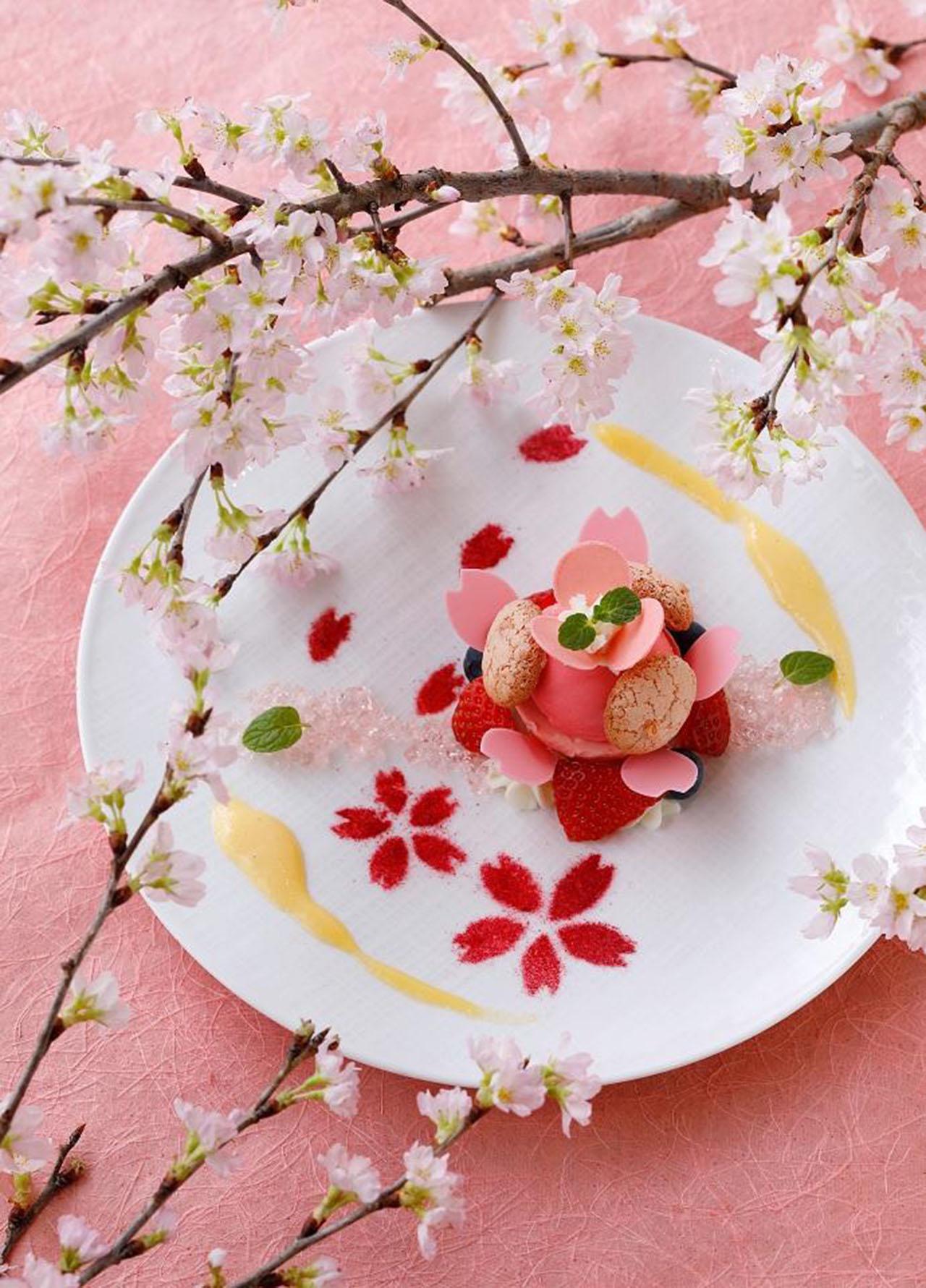 リーガロイヤルホテル京都のラウンジ「ひらり桜色 Sweets」