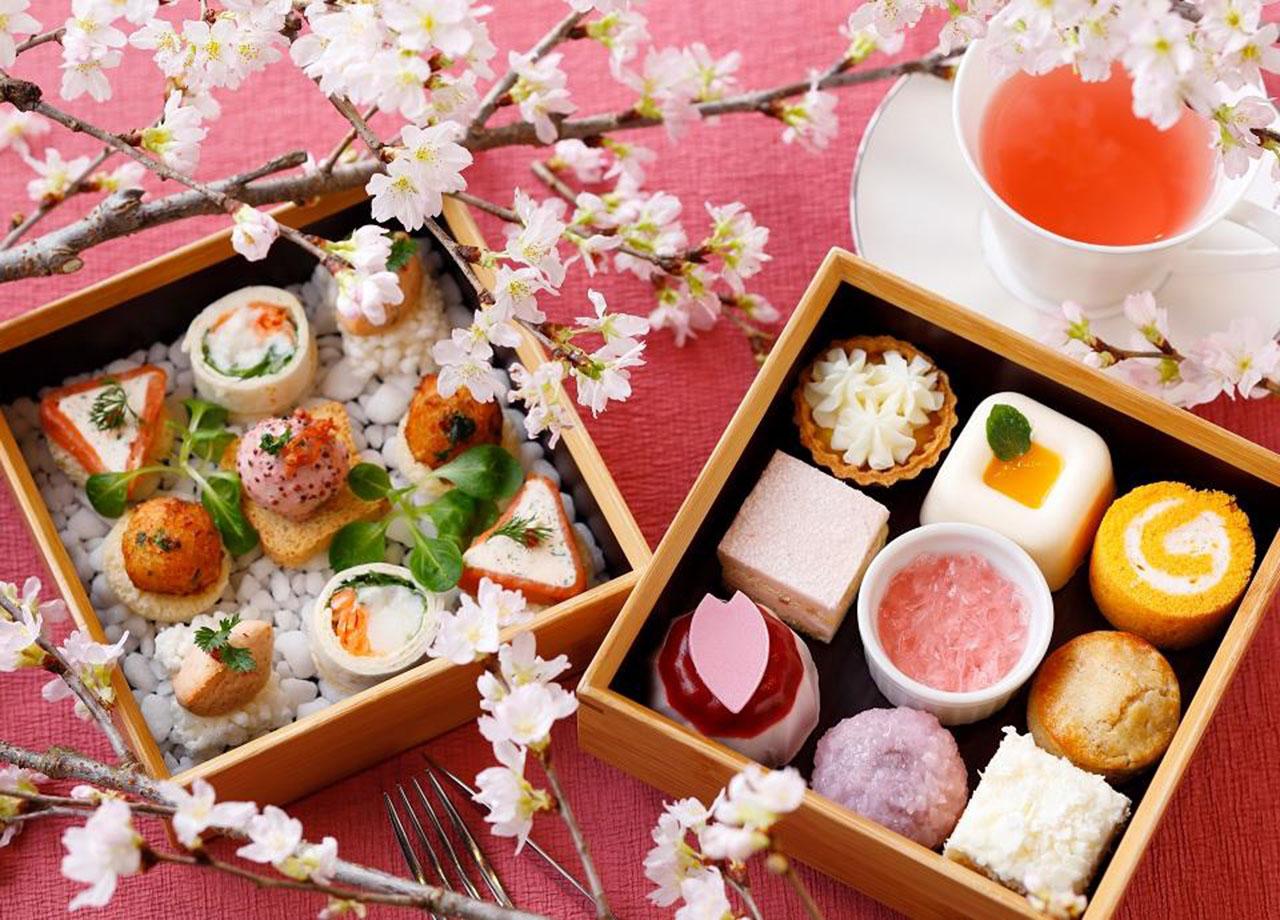 リーガロイヤルホテル京都のラウンジ「桜アフタヌーンティーセット」