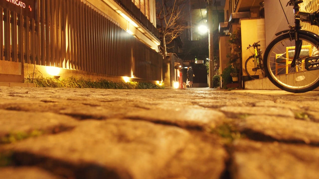 神楽坂 石畳 夜景