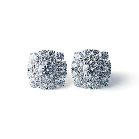 ミランダ・カー 「花車(HANAGURUMA)」のダイアモンドイヤリング