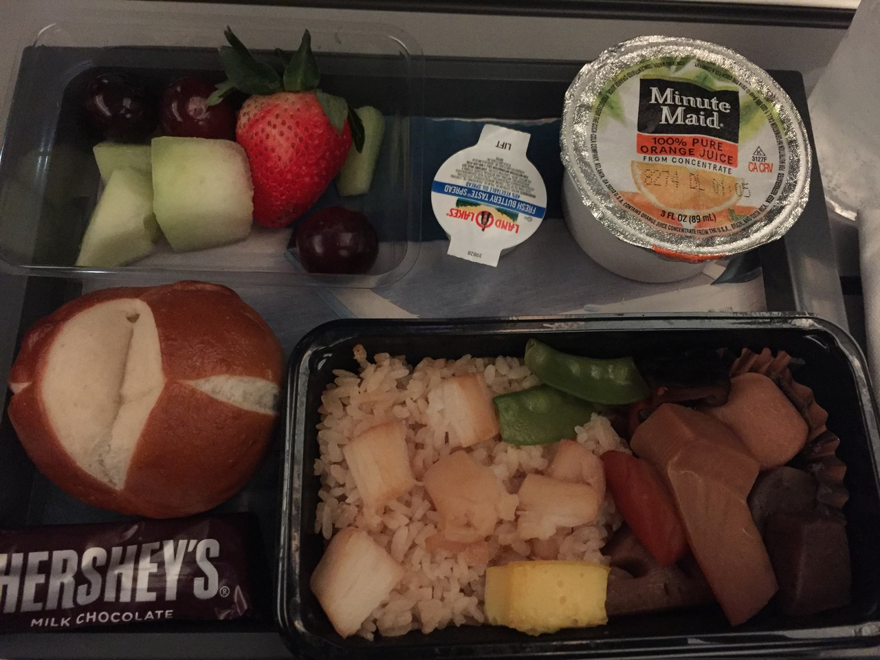 デルタ航空 朝食