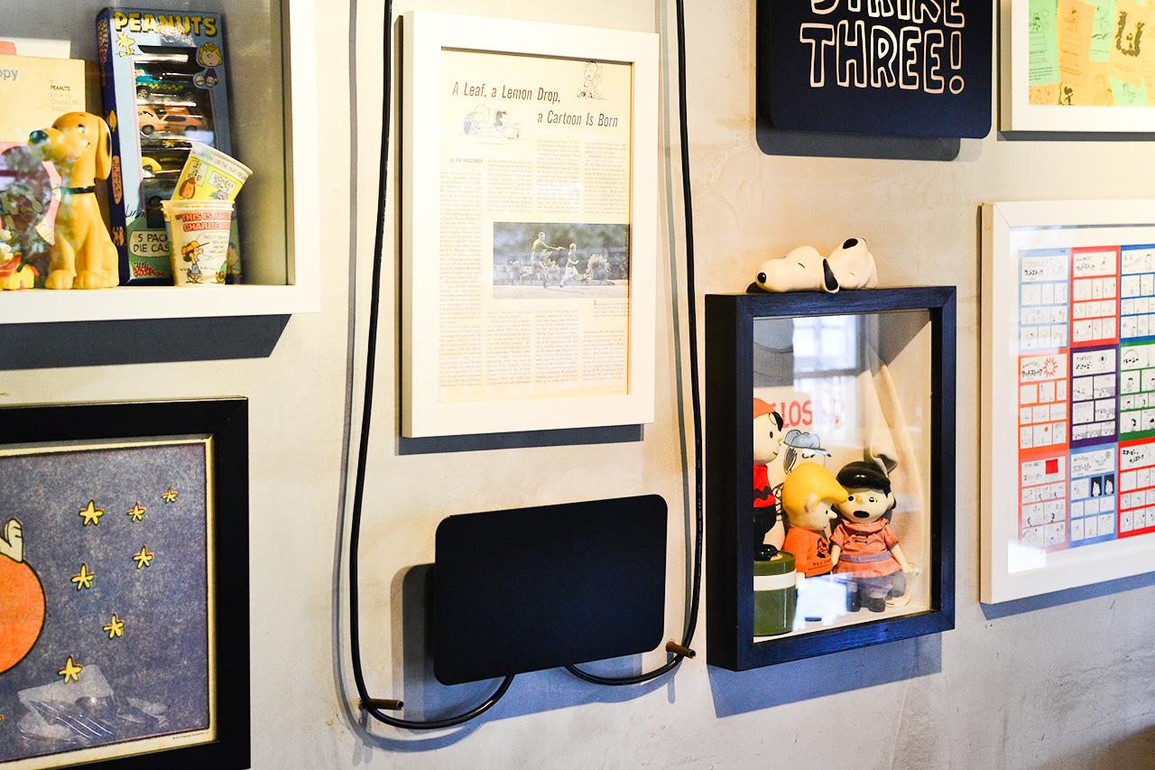PEANUTS Cafe 2階壁
