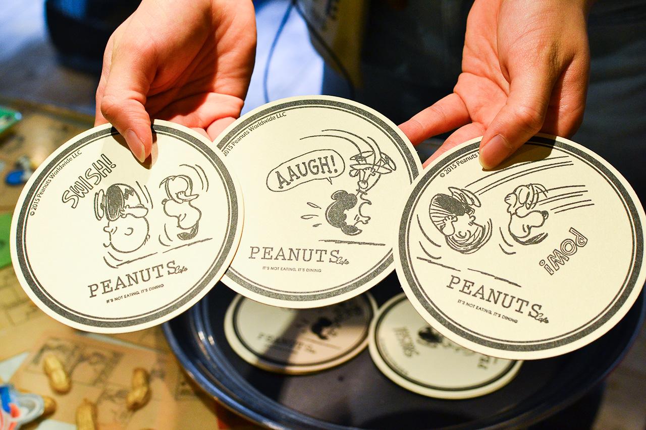 PEANUTS Cafe オリジナルコースター