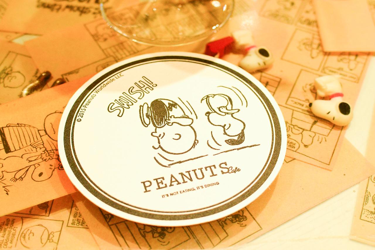 PEANUTS Cafe コースター スヌーピー&チャーリー