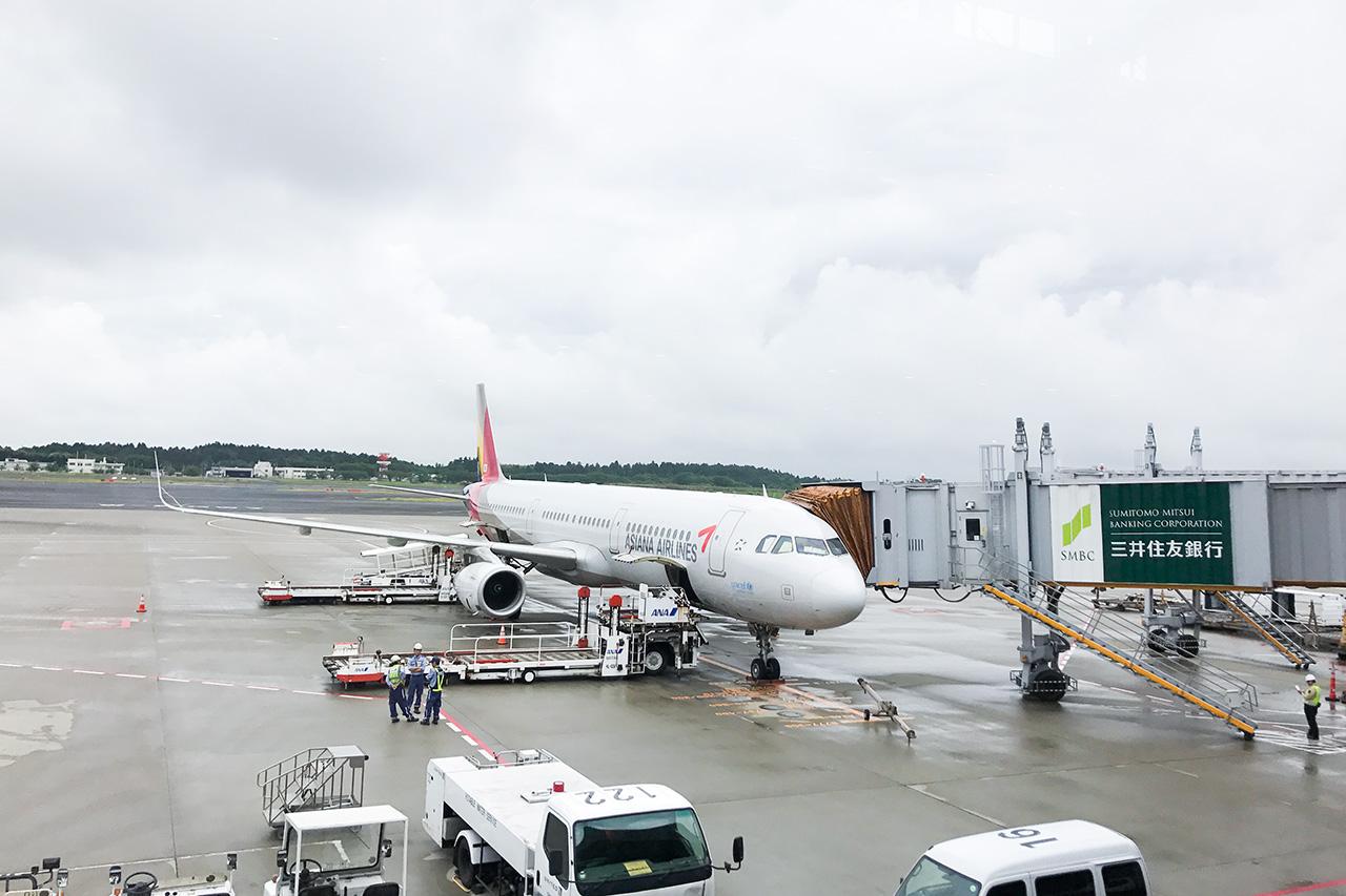アシアナ航空機