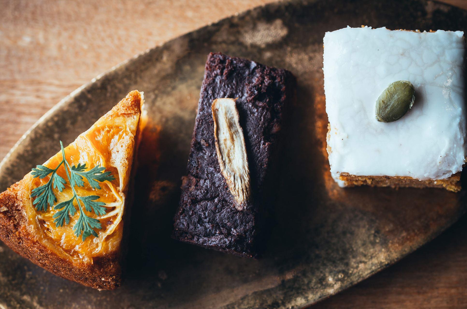 天然素材と季節の手作りケーキ