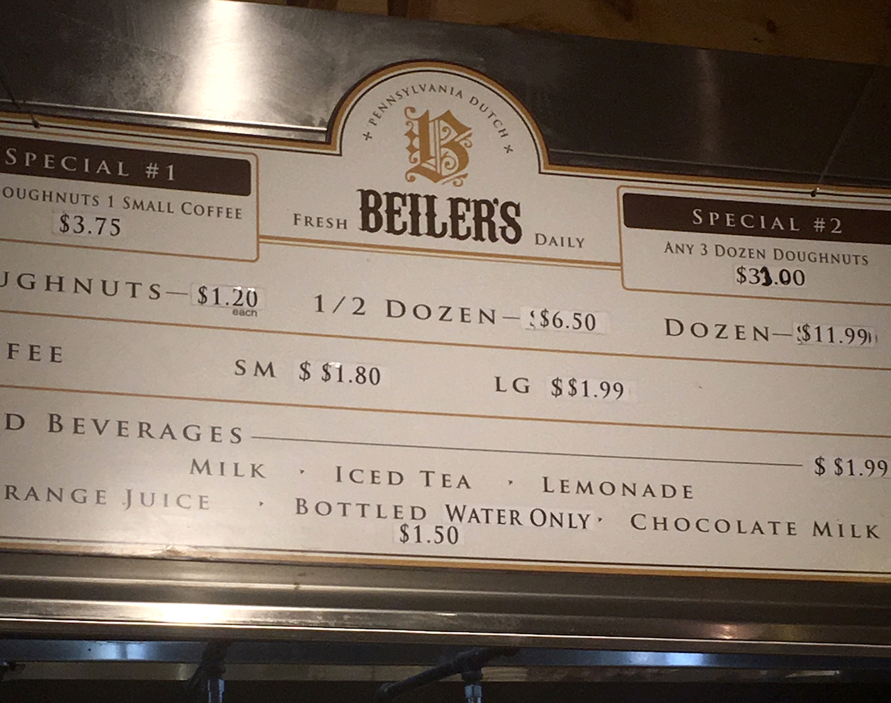 Reading Terminal Market BEILER'S DONUTS フィラデルフィア