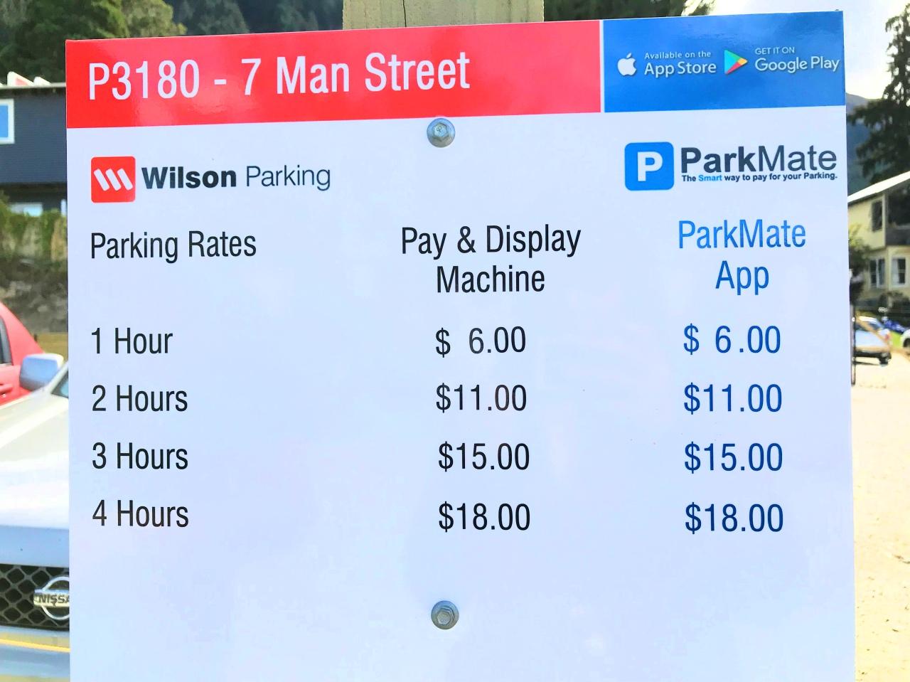 駐車料金表