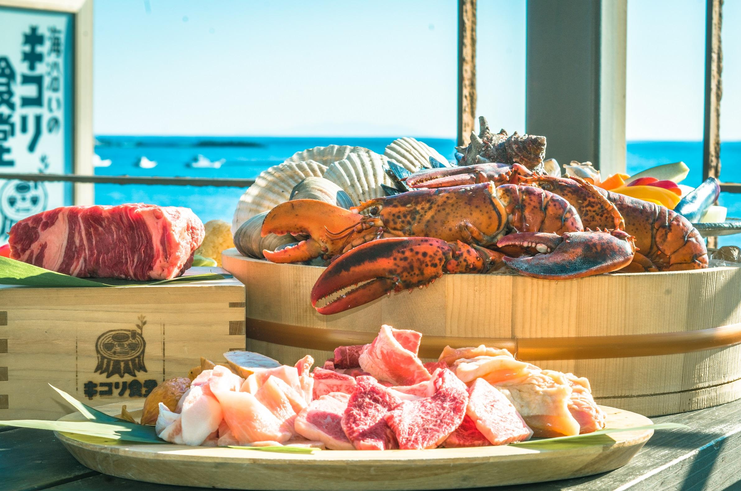 「3時間たっぷり!塊肉と豪快漁師盛りBBQコース」1
